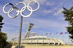 Estadio olímpico de Montreal Imagen de archivo libre de regalías