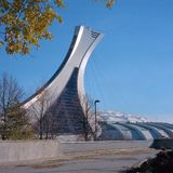 Estadio olímpico, Montreal foto de archivo libre de regalías