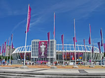 Estadio olímpico renovado del deporte en Kiev, Ucrania, Fotos de archivo
