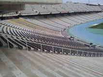 Estadio olimpic de Barcelona imagenes de archivo
