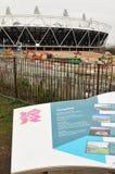 Estadio olímpico Londres 2012 Fotos de archivo