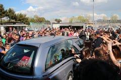 Estadio Picchi en el cadáver Morosini de Livorno Foto de archivo