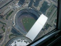 Estadio por satélite foto de archivo libre de regalías