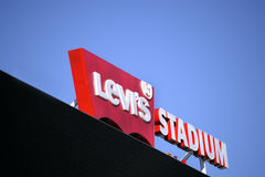 Estadio Santa Clara Calif de Levis Fotos de archivo libres de regalías