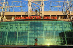 Estadio viejo de Trafford imagen de archivo libre de regalías