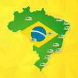 Estadios del campeonato del Brasil stock de ilustración