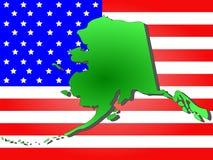 Estado de Alaska Imágenes de archivo libres de regalías