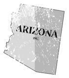Estado de Arizona y mapa Grunged de la fecha ilustración del vector