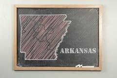 Estado de Arkansas Imagens de Stock