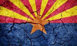 Estado de bandeira do Arizona foto de stock royalty free