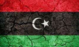 Estado de bandeira de Líbia Imagens de Stock
