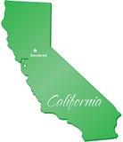 Estado de Califórnia ilustração stock