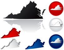 Estado de ícones de Virgínia Imagem de Stock Royalty Free