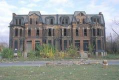 Estado de decaimiento del centro urbano Imagenes de archivo