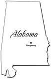 Estado de esboço de Alabama Imagem de Stock Royalty Free