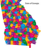 Estado de Geórgia ilustração do vetor