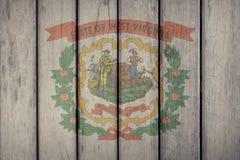 Estado de los E.E.U.U. Virginia Flag Wooden Fence del oeste libre illustration
