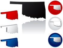 Estado de los iconos de Oklahoma ilustración del vector