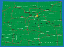 Estado de mapa político de Colorado Foto de Stock Royalty Free