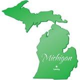 Estado de Michigan ilustração do vetor