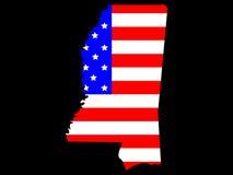 Estado de Mississippi ilustración del vector