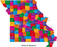 Estado de Missouri Imagens de Stock