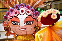 Estado de papel fêmea chinês da ópera fotografia de stock