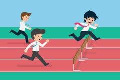 Estado de preparación competitivo del negocio del hombre 01 del sueldo libre illustration