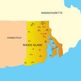 Estado de Rhode Island Foto de archivo libre de regalías