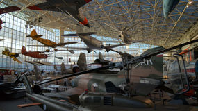 ESTADO DE SEATTLE, WASHINGTON, EUA - 10 DE OUTUBRO DE 2014: O museu do voo é o o ar e o espaço privados os maiores fotografia de stock royalty free