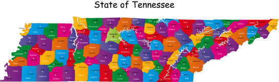 Estado de Tennessee Foto de Stock