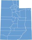 Estado de Utá por condados Foto de Stock Royalty Free