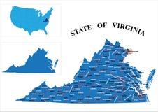Estado de Virginia ilustración del vector