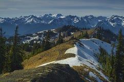 Estado de Washington de la opinión del monte Olimpo imagen de archivo