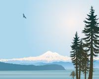 Estado de Washington del panadero del montaje stock de ilustración