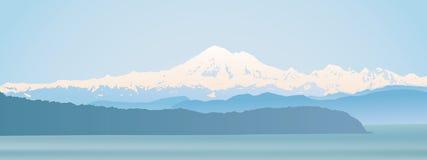 Estado de Washington do padeiro da montagem panorâmico Imagem de Stock Royalty Free
