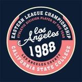 Estado del campeón de Los Ángeles ilustración del vector