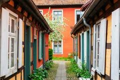 Estado del consejo del hospital de Heiliggeist en Stralsund, Alemania imagen de archivo libre de regalías