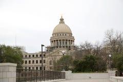 Estado del edificio del capitolio del fondo de Mississippi fotos de archivo