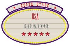Estado estupendo los E.E.U.U. - Idaho stock de ilustración