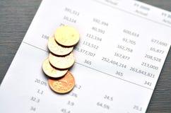 Estado financiero Imágenes de archivo libres de regalías
