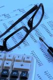 Estado financiero Imagen de archivo libre de regalías