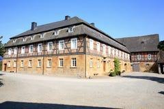 Estado histórico Nordenbeck en Hesse, Alemania Foto de archivo libre de regalías