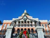 Estado House& x27 de Massachusetts; porta de s em Boston imagem de stock
