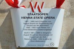 Estado Opera - Áustria de Viena imagem de stock