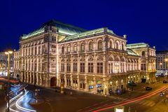 Estado Opera de Viena fotografia de stock royalty free