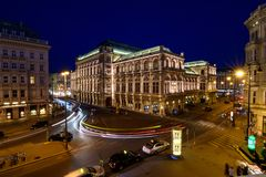 Estado Opera de Viena foto de stock