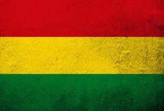 Estado plurinacional de bandeira nacional de Bolívia Fundo do Grunge ilustração royalty free