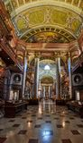 Estado Salão de Prunksaal de biblioteca de Viena Natianal imagens de stock royalty free