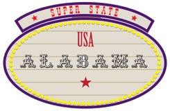 Estado super EUA - Alabama Fotografia de Stock